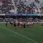 The teams are contesting the final under the roof at Forsyth Barr Stadium in Dunedin. Photo...