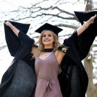 Dunedin soprano Sophie Morris graduated with master of music (performance) and bachelor of commerce (marketing management) degrees. Photo: Peter McIntosh
