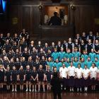 The Taieri Schools' Music Festival choir is conducted by Alison Tay at Dunedin Town Hall last...