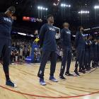 The USA men's basketball team in Oakland. Photo: Getty Images