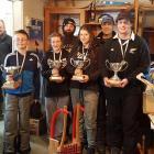 This season's national champions (front, from left) junior men: James Schollum (12), of Dunedin;...