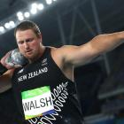 Tom Walsh competes during the shot put at the Rio Olympics. Photo: Getty Images
