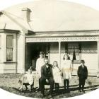 A photograph of the Beattie family in front of their house  in Cardigan St East, believed to be...