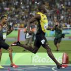 Usain Bolt crosses the finish line in the 200m final. Photo: Reuters