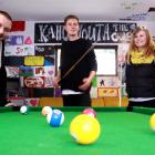 Kahu Youth Trust youth workers Richard Elvey (left) and Angie Lister join trust member George...