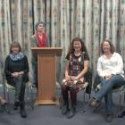 Candidates for local body elections in the Wanaka area (seated, from left) Maggie Lawton, Jude...