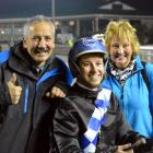 Phil Williamson (left) with youngest son Brad and wife Bev at Forbury Park in June. Photo by Matt...