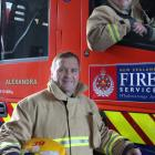 Alexandra volunteer firefighters Kevin Malcolm (front) and Marty Rendall are ready to be called...