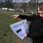 Cromwell Primary School principal Wendy Brooks points out where a new $1.25million multi-purpose...