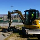 Construction begins on a  $1million  building at the Pioneer Energy Turf in Cromwell.