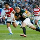 Adriaan Strauss in action at last year's World Cup. Photo: Reuters