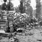 The British advance on the Western Front: ammunition boxes used by one division alone during the...