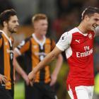 Arsenal's Granit Xhaka celebrates scoring their fourth goal. Photo: Reuters