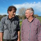 Clutha District Council councillor Bruce Graham (60, left) and his namesake Bruce Graham (70),...
