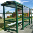 A bus shelter similar to this one was stolen in Granity. Photo NZ Police