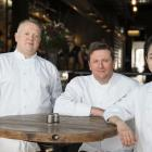 Team Otago (from left) Ken O'Connell (of Bracken Restaurant) and Greg Piner and Fifi Leong (both...