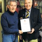 Fred Daniel (left) and Lox Kellas were recently named life members of the Dunedin Returned and...