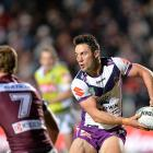 Cooper Cronk in action for the Storm against the Manly Sea Eagles. Photo: Getty Images