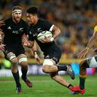 Ardie Savea runs the ball for the All Blacks against Australia. Photo: Getty Images