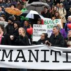 Hundreds protested against proposed cuts to the University of Otago humanities division in August...