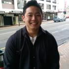 Zoology student Yuji Kubota is all smiles after having charges related to a drunken fire in Hyde...