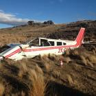 The Glenorchy Air Piper Cherokee which crashed near the Poolburn Reservoir in 2014. PHOTO: NZ...