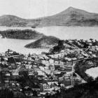 Panorama of the town of Port Chalmers looking across the Otago Harbour, showing Quarantine and...