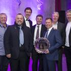 Accepting the New Zealand Airports award for Project of the Year are project team representatives...