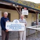 Arrowtown Trust member Don Spary (left) and then police volunteer co-ordinator Les Rogerson,...