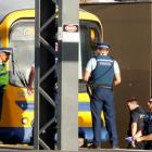 Police at the Morningside train station following the fatal accident. Photo: NZ Herald