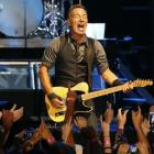 Singer Bruce Springsteen performs with the E Street Band during his concert in Cape Town last...