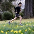 Jonah Smith goes on a training run through the Dunedin Botanic Garden this week. Photo: Gerard O...