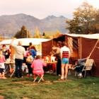 Some of the families we camped with every year pictured outside our camp site in the summer of...