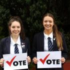 Otago Girls' High School pupils Danni Cuthbertson (left) and Molly-Rose Taylor have been inspired...