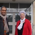 Kaikorai Presbyterian Church minister John Daniel (left) and church manager Olive Lewis are...