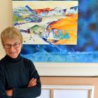 Artist Sue Novell, who has responded to the research of Prof Holger Regenbrecht's lab, in the...