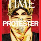 Time magazine's Person of the Year issue featuring 'The Protester'.(AP Photo/Time Magazine)