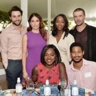 Viola Davis (centre) with the cast of 'How to Get Away with Murder' at the Rape Foundation's...