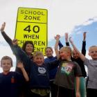 Hawea Flat School pupils (from left) Lachy Thomson (7),  Ari Drake (7), Pippa Raffills (10),...