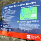 The sign at the Albert Town recreation reserve boat ramp, displaying the rules on the Clutha...