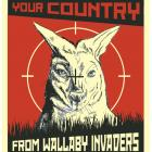 One of the posters advertising the Otago Regional Council's campaign to control wallabies. They...