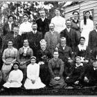 The golden wedding of Mr and Mrs James Wyllie, celebrated at Outram on August 14, 1916. - Otago...