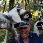 "Mark Thomas, in Madagascar with the lemurs..""the same mind that allows me to drink in life like..."