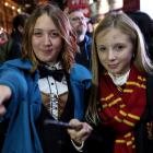 Fans at Cineworld IMAX at Leicester Square in London take part in a global event to preview the...