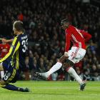 Manchester United's Paul Pogba scores their third goal against Fenerbahce SK. Photo Reuters