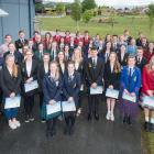 Recipients of Central Lakes Trust tertiary education scholarships join trust chairman Malcolm...
