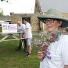 Alexandra Thyme Festival committee members Beverley Thomson (front) Anna Robinson (left), Bill...