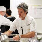 Skycity Dining for a Difference is the branchild of Peter Gordon, who prepares a dish. Photo by...