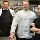 Dunedin chefs (from left) Greg Piner, Ken O'Connell and Fifi Leong breathe a sigh of relief after...