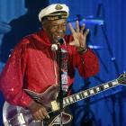 Rock and roll legend Chuck Berry performs the Bal de la rose in Monaco. Photo: Reuters